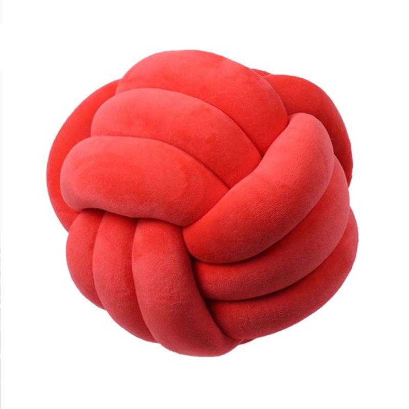 HTB1I5KjXUT1gK0jSZFhq6yAtVXaU Soft Knot Ball Cushions Bed Stuffed Pillow Home Decor Cushion Ball Plush Throw
