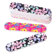 1PC Double Side Round Shape Nail Files Sanding Manicure Tools Art Tips New