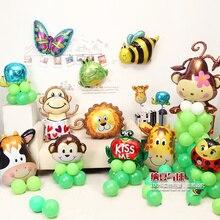 Dieren Vormige ballonnen Vlinder Lieveheersbeestje bij Kikker Slak Ballonnen Partij baby Verjaardagsfeestje bruiloft Decaoration Kinderspeelgoed