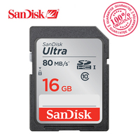 SanDisk Ultra SDHC SD Card 16GB Class10 Memory Card C10 80MB S UHS I Full HD