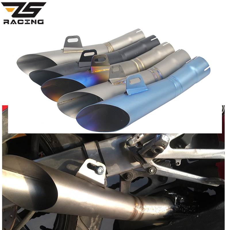ZS Racing 38 51mm Motorcycle Exhaust Pipe HP GP Moto Muffler Clamp Motorcycle Escape Pipe Accessory