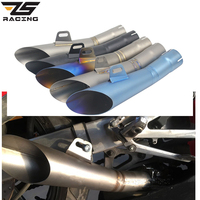 ZS Racing 38 51mm Motorcycle Exhaust Pipe HP/GP Moto Muffler Clamp Motorcycle Escape Pipe Accessory For Yamaha YZF R6