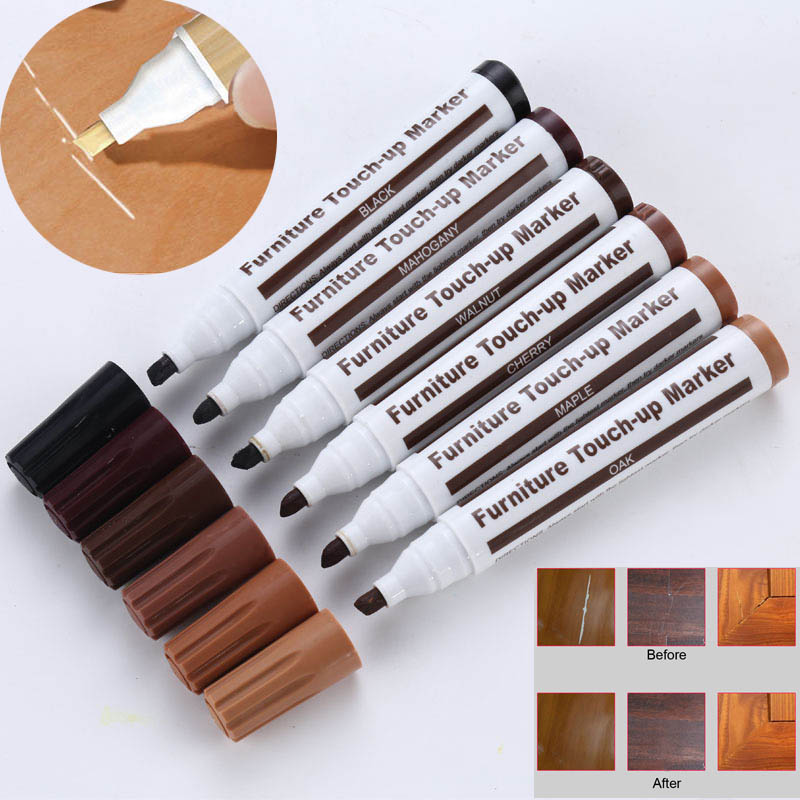 Furniture Repair Pen Markers Scratch Filler Paint Remover For Wooden Cabinet Floor Tables Chairs E2S
