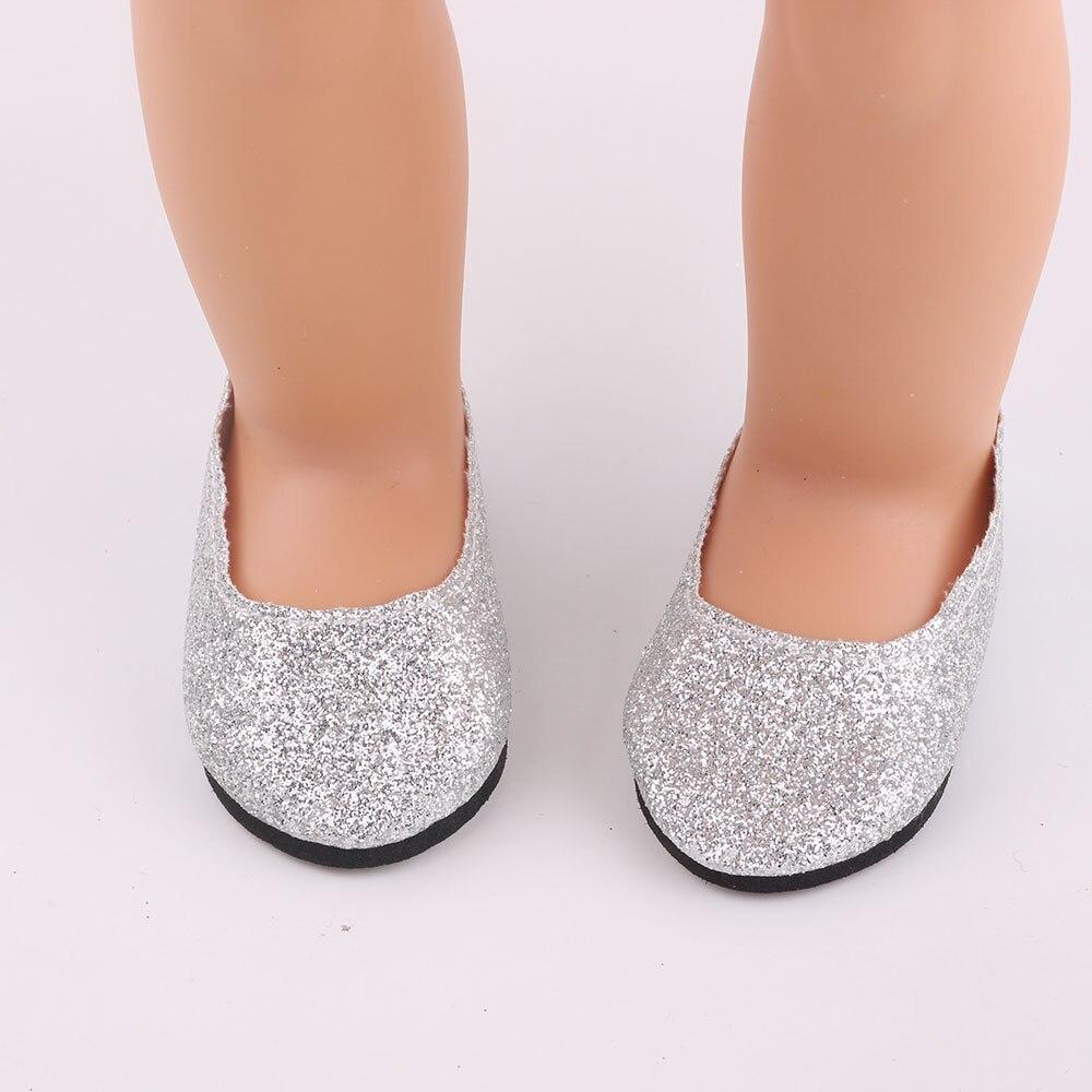 32c1b7ed Zapatos de cuero de moda, adecuado para 18 pulgadas muñeca americana, dio  el regalo de cumpleaños del niño N27