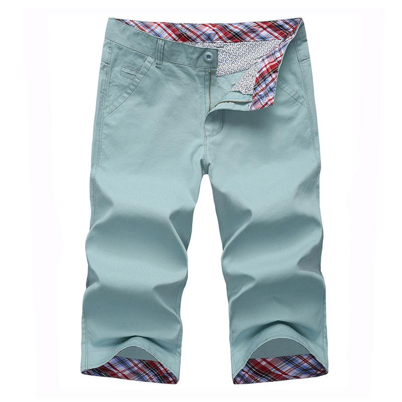 Solid Color Mens Shorts Casual Classic Mens Shorts Slim Fit High Quality Blue Khaki Lightblue Yellow Green Mens Shorts