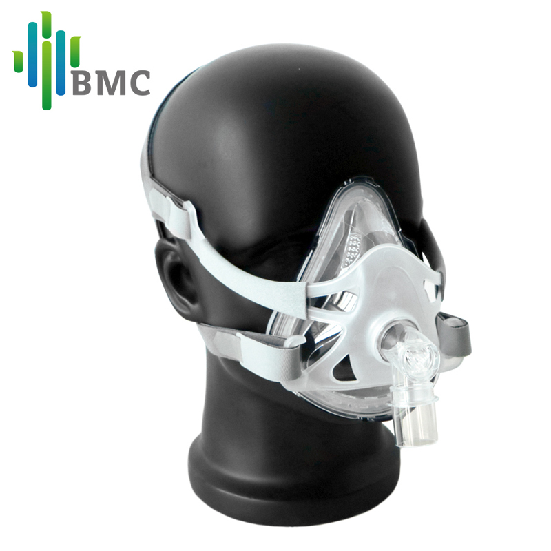 BMC FM1A Plein Visage Masque Pour CPAP Bipap Machine MPOC Ronflement Et Sommeil Thérapie Taille SML Connecter Visage Et Tuyau avec Coiffures Clips