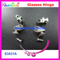 500sets or 1000pcs Good Quality Glasses Eyeglasses Eyewear Spring Hinge Screws S3431A S3433B Free Shipping