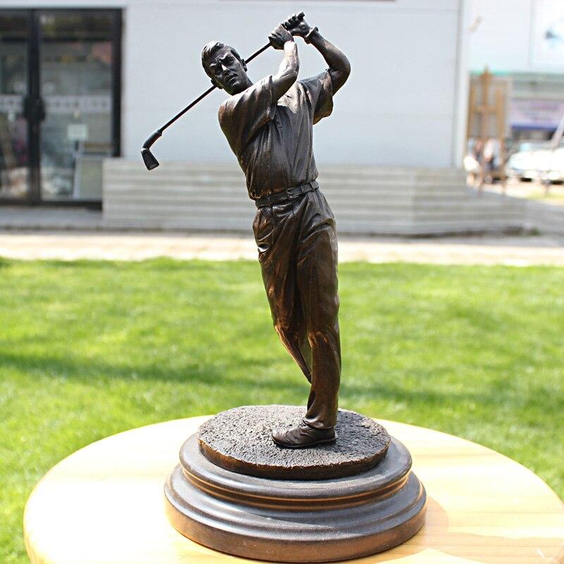 Maschio golf sport come la scultura in bronzo rame artigianato regalo di affari del regalo decorazione Fornire Domestico della decorazioneMaschio golf sport come la scultura in bronzo rame artigianato regalo di affari del regalo decorazione Fornire Domestico della decorazione