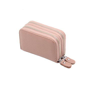 Business Colorful Women's Genuine Leather Wallet Bags and Wallets Hot Promotions New Arrivals Women's Wallets Color: Pink Ships From: China