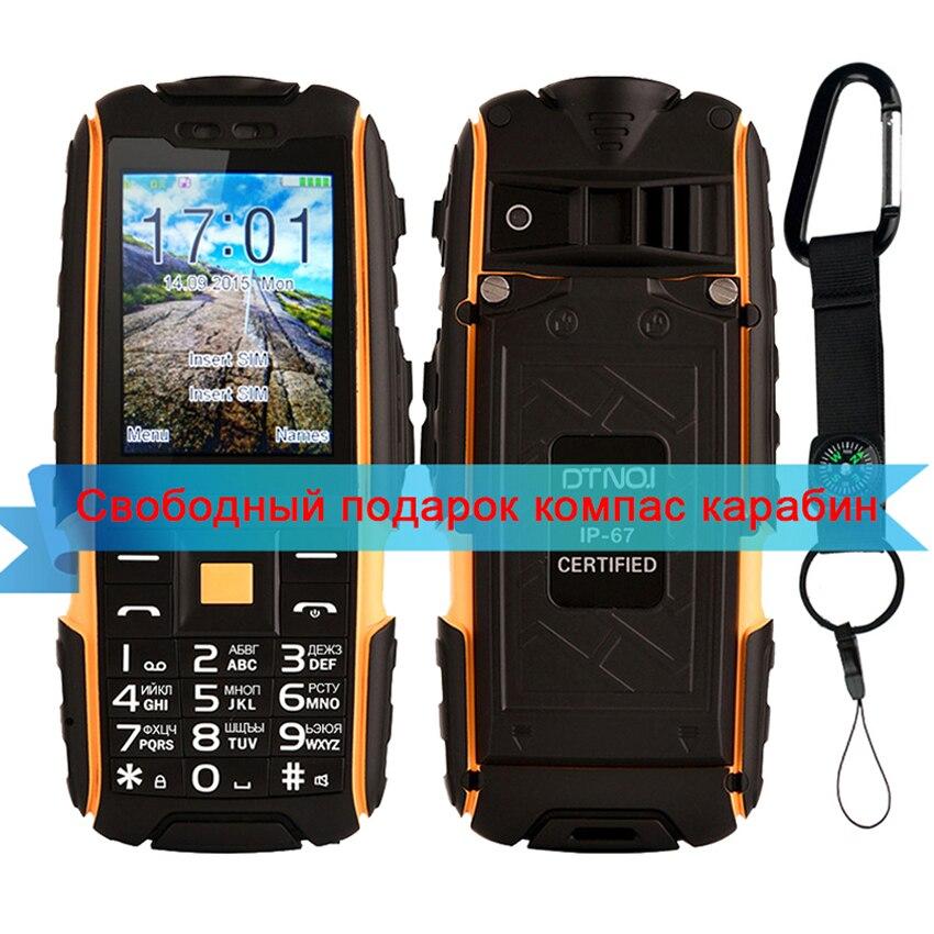 DTNO I A9 Russian keyboard IP67 Waterproof shockproof Unlock mobile phone Dual SIM 4800mAh Wireless FM