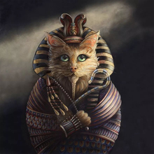 Full Square 5D DIY Diamond Painting Cat cosplay egyptian pharaoh Embroidery Cross Stitch rhinestones Mosaic Y1989 diamond embroidery egyptian pyramids 5d diy diamond painting cross stitch rhinestones full square diamond mosaic z134