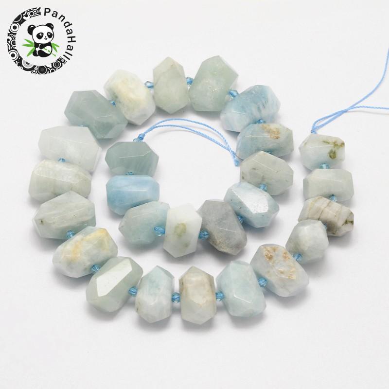 Perles PandaHall naturel aqua-marine pépites de perles fabrication de bijoux Bracelet accessoires bricolage artisanat environ 22 ~ 27 pièces/brin