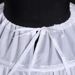 Image 3 - 6 Hoops White Petticoats Bustle Ball Gown Wedding Dress Underskirt Bridal Crinolines