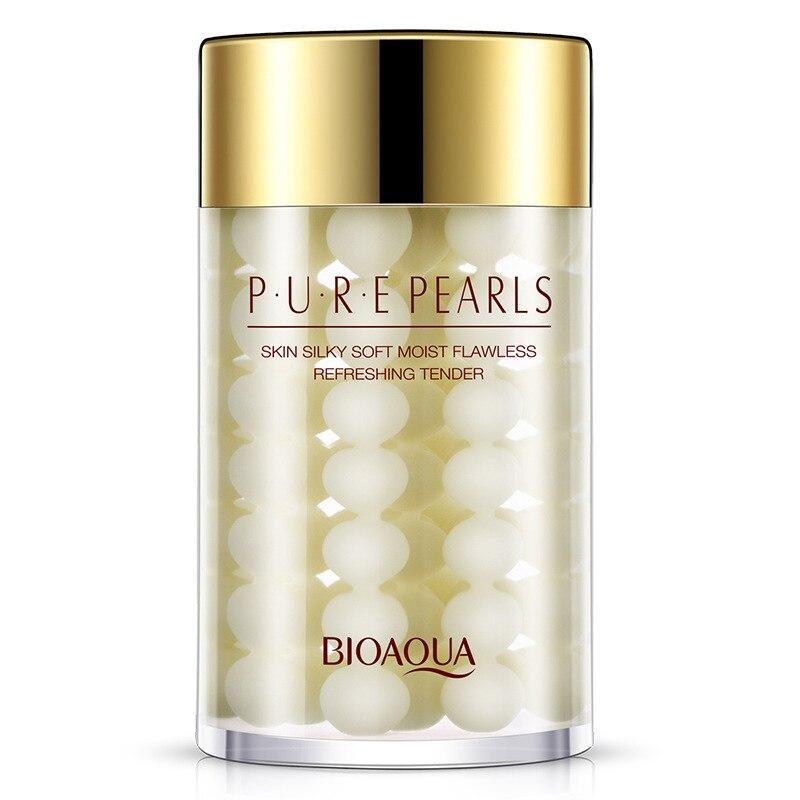BIOAQUA Natural Perla Crema Hidratante Para Dormir Máscara Facial Máscara Hidratante Anti Envejecimiento Anti Arrugas Poros de Contracción de Los Hombres/de las mujeres Cuidado de La Piel