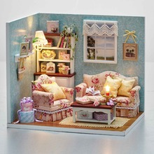 DIY Handmake Wooden Dollhouse Miniature Kit Reunion with Happiness Cute Bedroom Furniture Model Girl Doll House Room Box