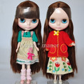Free shipping,Nude Blyth Doll, Brown hair, big eye doll,Fashion doll Suitable For DIY Change BJD , For Girl's Gift,HJ018
