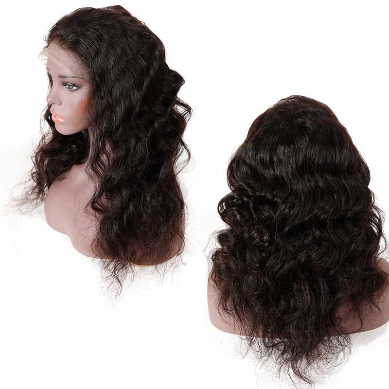 Addbeauty полный кружево парик Девы для черный для женщин 150% бразильский свободная волна человеческие волосы необработанные предварительно сорвал
