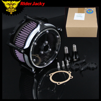 RiderJacky For Harley Sportster 1200 883 Seventy Two Forty Eight Iron 883 10 14 XL1200 XL883 Clarity Air Cleaner Contrast Cut