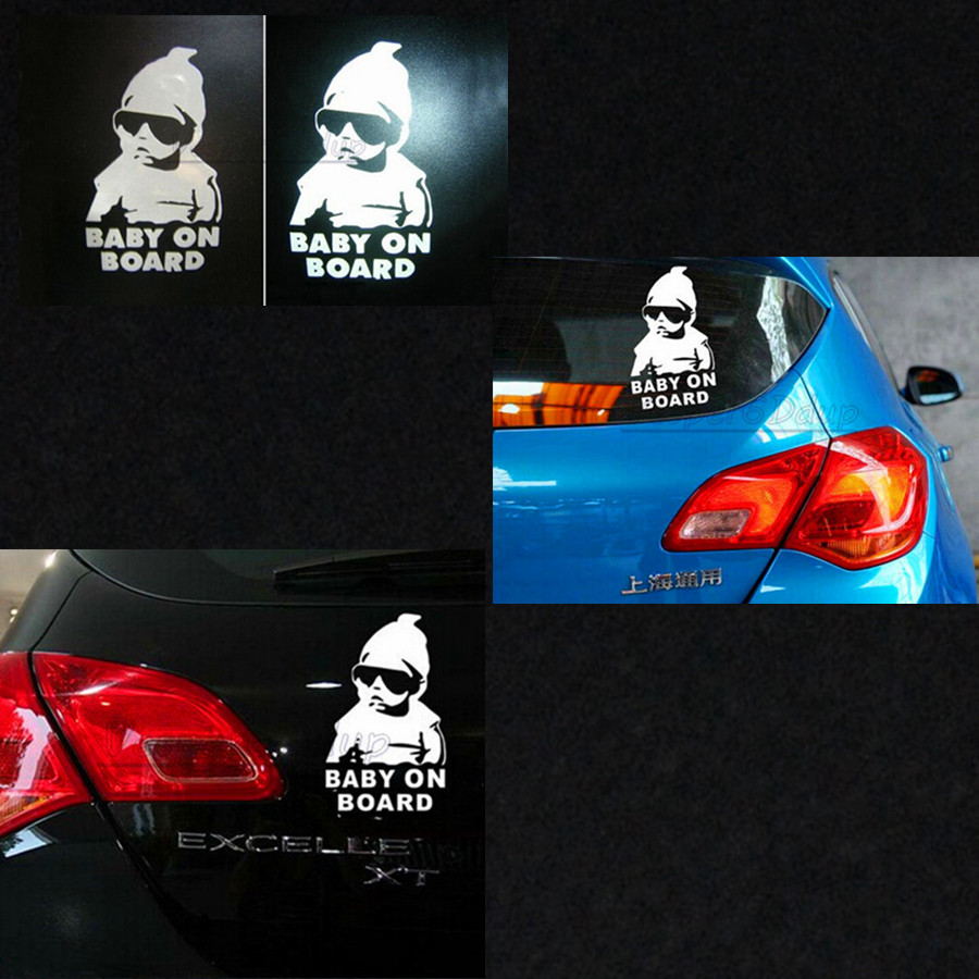 30PCS 3D Baby on Board Car Sticker Car Styling Car Covers Motorcycle Sticker Vinyl Decal Waterproof Reflective Wall Stickers