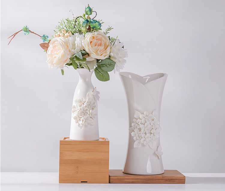 AliExpress & US $38.0  Hand pinching flowers vase decorative white ceramic vases handmade creative flower decoration home ornaments floral vase-in Vases from Home ...