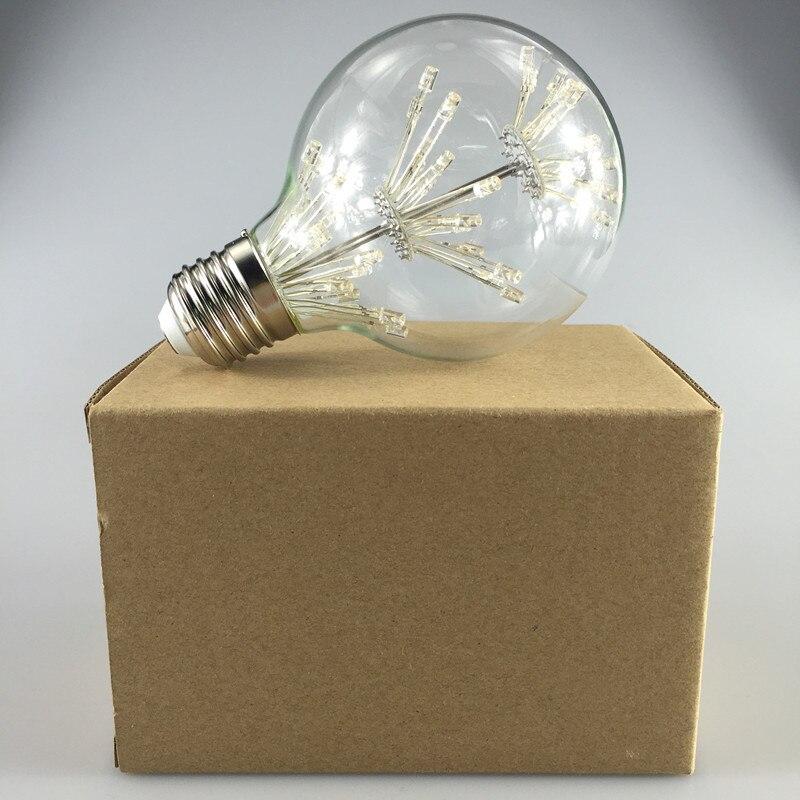 10 шт. G80 Dragon Ball светодиодный светильник в стиле ретро со звездами 3 Вт E27 AC85 265V энергосберегающий Теплый Белый античный светодиодный светильник из стекла для ресторана - 6
