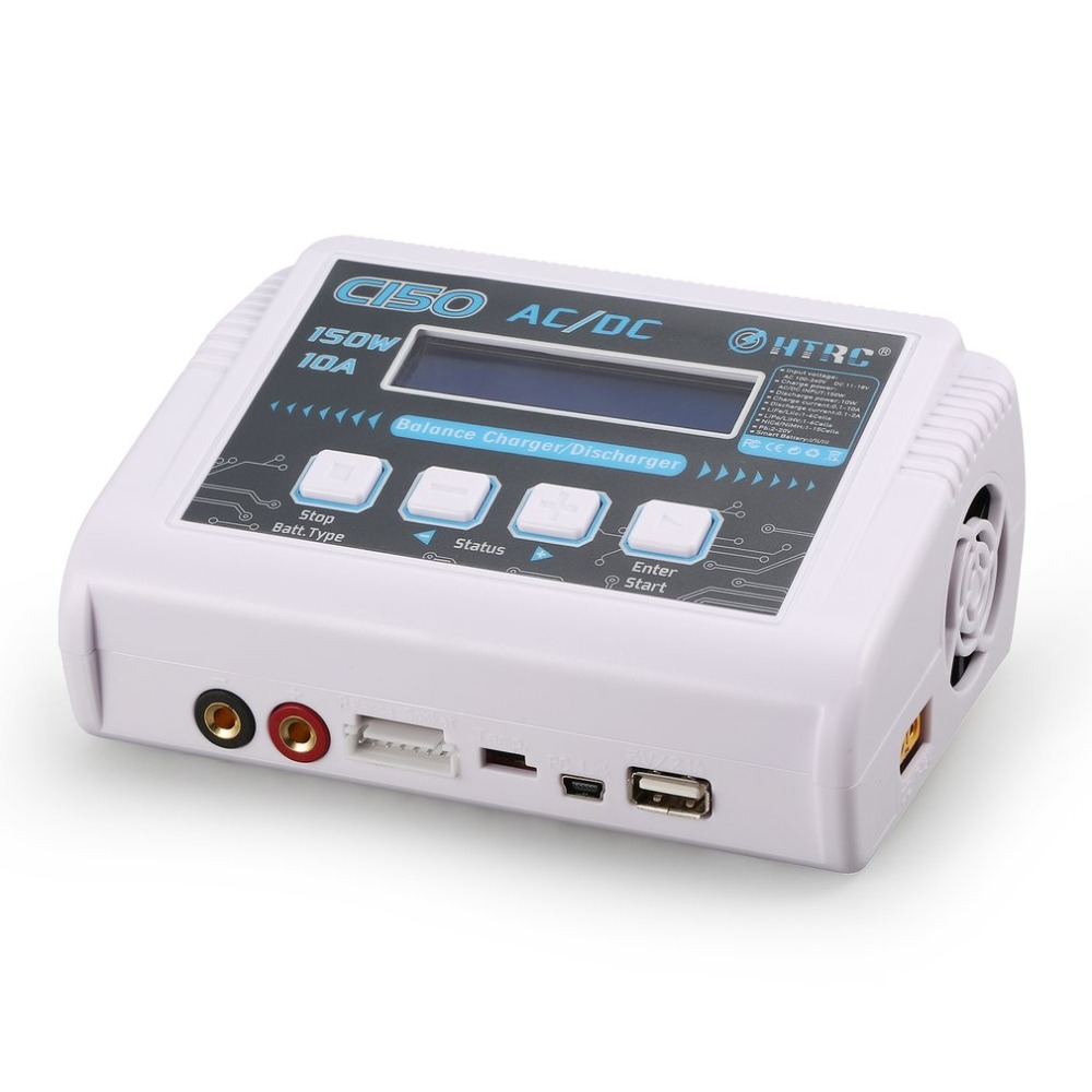 HTRC C150 AC/DC 150 w 10A Smart Balance Chargeur Déchargeur pour RC Drone 1-6cell LiPo/Vie/ li-lon 1-15cell NiMh/NiCd Pb Batterie
