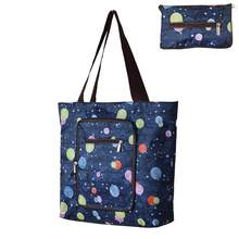 Fashion Printed Foldable Shoulder Shopping Bag Travel Grocery Storage Tote Pouch Handbag For Women(China)