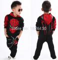 JT-169 Retail 2017 new spiderman children clothing sets kids fashion cartoon hoodies+ pants boys pant suit kids clothes