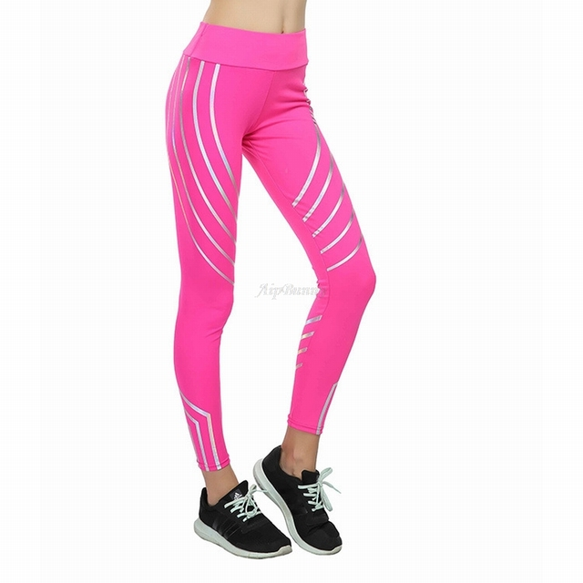 Compact Laser Reflective Legging Women'S Yoga-Pants Push-Up Sport Fitness-Femme Leggings Tranining Running Joggers Sweatpants 3