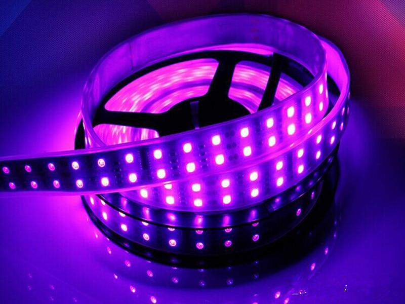 5M WS1812 Smart IC LED Strip Double Row tube Waterproof 600 Leds 120leds/m 5050 RGB flexible light dream magic color tape lamp