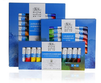 12 18 24 colours watercolor paint  / watercolour set 10ml/PC