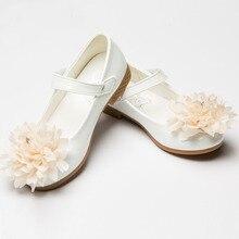 Prinzessin Blume Kinder Schuhe Weiß Leder Schuhe Für Mädchen Party Hochzeit Mädchen Prinzessin Schuhe