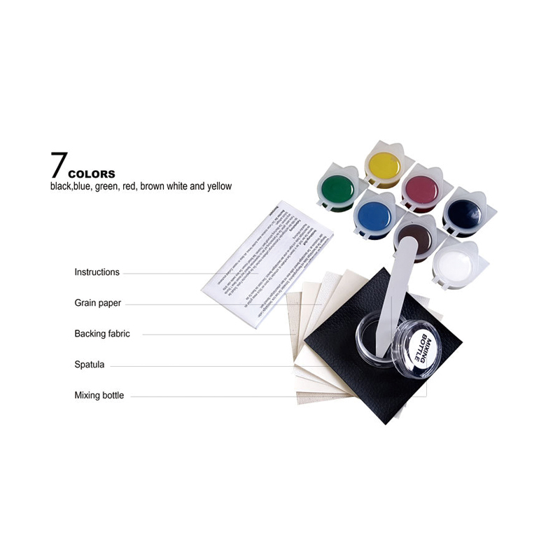 FEISHIYE Liquid Leather and Vinyl Repair Kit for Car Leather Paint Air Dry Repairs Holes/Rips/Tears/Gouges
