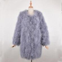 Actual Fur Coat Girls's coat Ostrich Materials Feminine Equipment 90 CM Size Plus Measurement For Younger Girl Stylish Spring