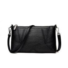 Bolso de mano pequeño de piel sintética para mujer, cartera de mano femenina, tipo sobre, de noche