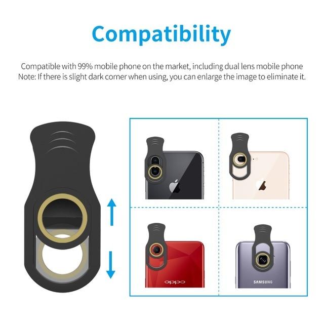 Apexel Mobile Phone Camera lens Optical 4-12X Zoom Telephoto Telescope Lens+Mini selfie Tripod for Samsung Huawei more phones 4