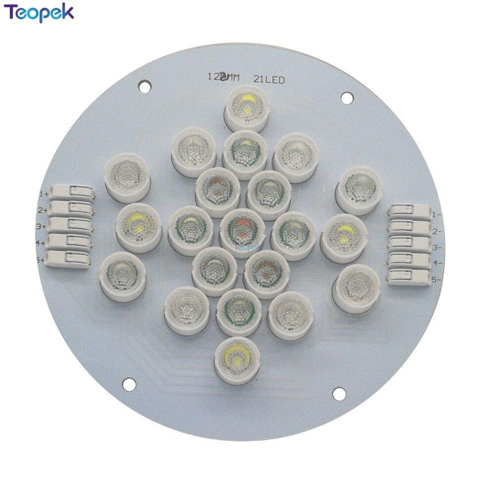 Cree XPE + Epi LED s 3535 UV 5 canaux 21 LED s lampe d'émetteur de LED mixte lumière pour bricolage Aquarium Aquarium lampe de réservoir de poissons plante croissance éclairage - 4