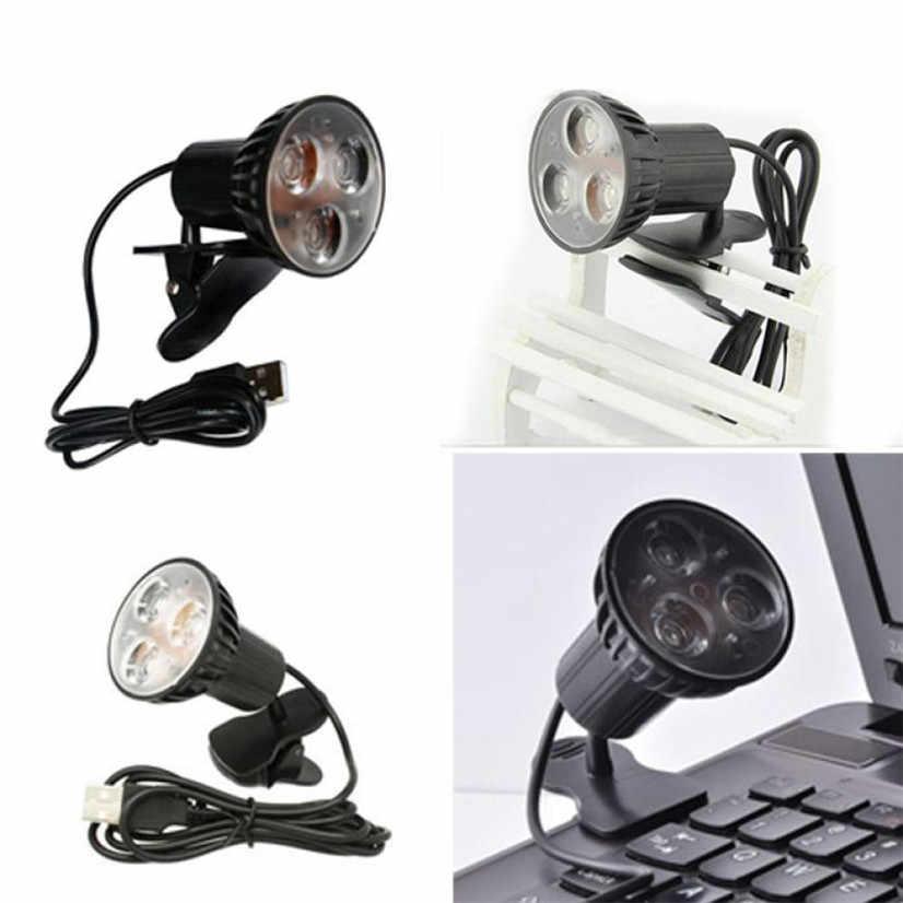 Заводская цена USB 3-светодиодный настольный светильник для чтения с зажимом для ноутбука Mfeb14 WL1L Прямая поставка