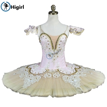 Peach Fairy professional ballet tutu pink adult Performance Tutu pancake costumes nutracker nude BT9044
