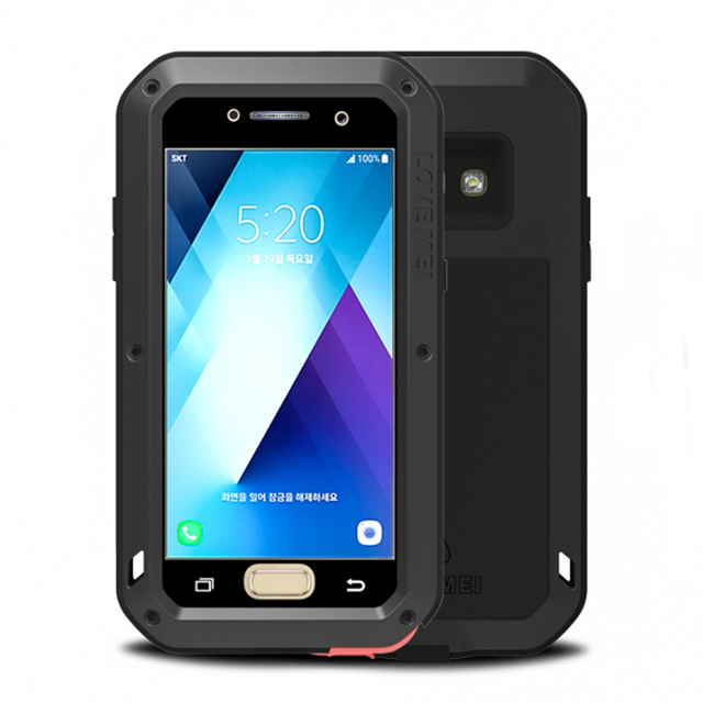 newest 2694c 06f1a US $35.3 |Waterproof Case For Samsung Galaxy A3 2017 Luxury Shockproof Case  For Galaxy A3 2017 Aluminum Armor Cover For Samsung A3 2017-in Fitted ...