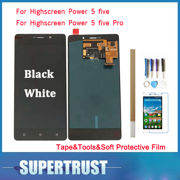 For Highscreen Power 5 power five power 5 pro power five pro LCD Display+Touch Screen Digitizer Assembly Black White Color For Highscreen Power 5 power five power 5 pro power five pro LCD Display+Touch Screen Digitizer Assembly Black White Color