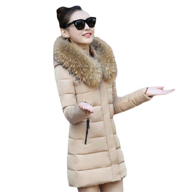 Hot! Fashion Winter Jacket Women 2017 New Winter Coat Women Fur Collar Warm Woman Parka Outerwear Down jacket Parkas size S-XXL