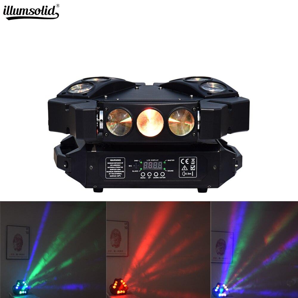 Le faisceau principal mobile a mené l'effet de lumière de boule de disco dj allumant 9x12 w rgbw la lumière dmx 512 a mené l'éclairage d'étape pour la mini araignée