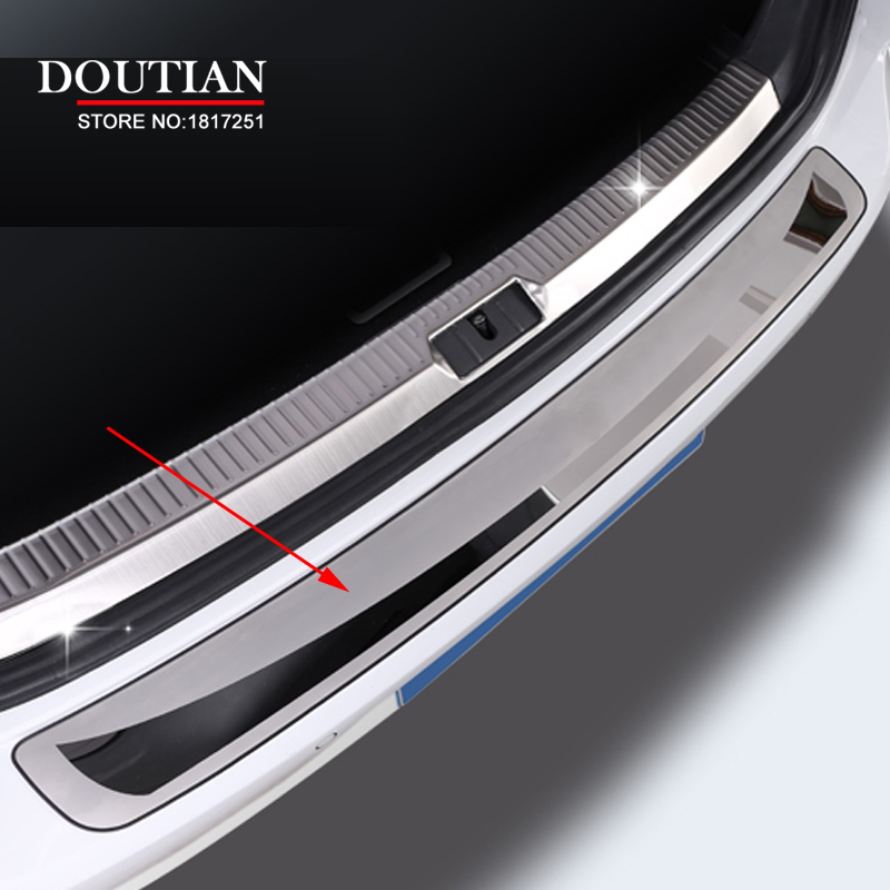 For Vw Golf 7 Mk7 Stainless Steel Rearguards Rear bumper Trunk Trim Bumper Pedal Car Styling Accessories
