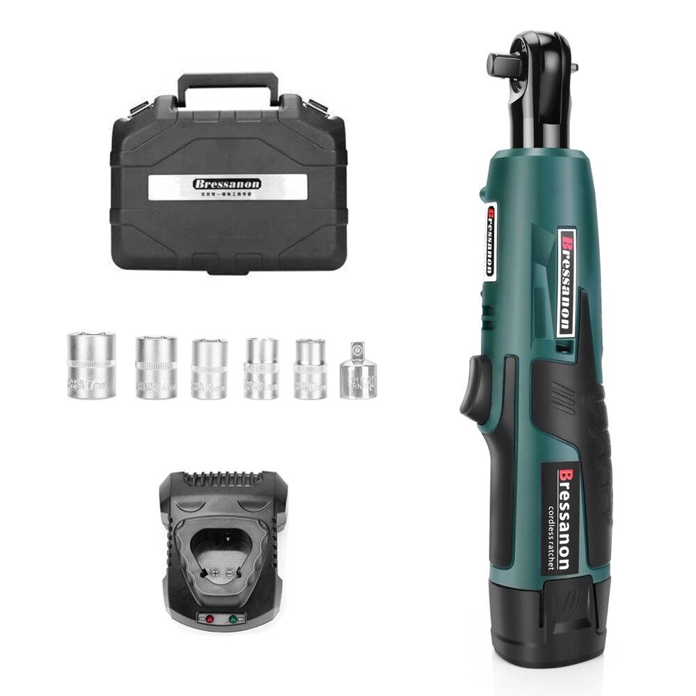 Bressanon 3/8 Électrique Sans Fil Clé À Cliquet Avec 12 v 2000 mah Batterie