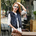 Real Fur Short Paragraph Female Raccoon Fur High quality European Luxurious Vest Fur Vest Waistcoat For Women