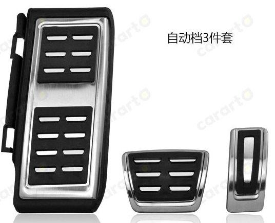 AOSRRUN, педаль для автомобиля, ножной топливный тормоз, сцепление MT/AT, накладка на педали для VW Volkswagen GOLF7 MK7 GTi 2013, автомобильные аксессуары - Название цвета: AT