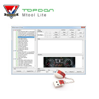 MTool Lite 1.27 Version Mileage Programmer work to Adjust the Mileage Change of Cars OBD Car Mileage Correction Tool of run