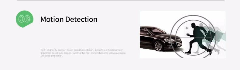 E-ACE Car Dvr Camera Led Lights Blue Rearview Mirror FHD 1080P Night Vision Video Recorder Dual Lens Auto Registrator Dash Cam 14