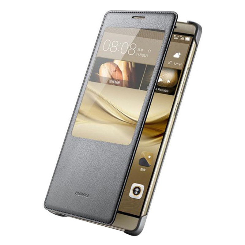 Image 5 - Huawei Original Smart Phone Case View Cover Flip Case For Huawei Mate8 Mate 8 Housing Sleep Function intelligent Phone Case-in Flip Cases from Cellphones & Telecommunications